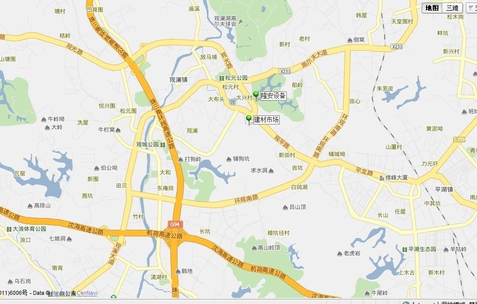 我公司发布3d卫星地图上关于我公司的精确位置