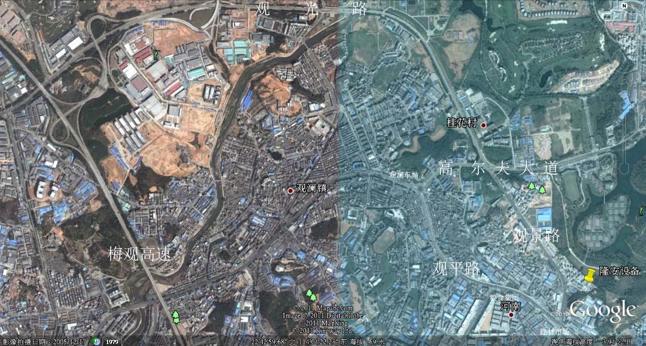 我公司发布3d卫星地图上关于我公司的精确位置-深圳